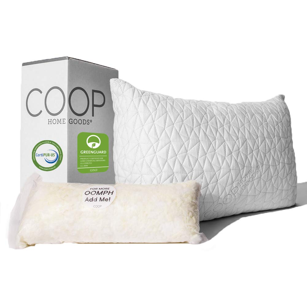 Coop Home Goods best pillow for back sleepers review by www.dailysleep.org