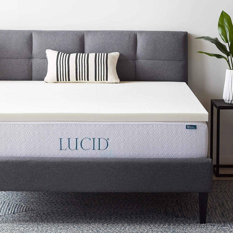 LUCID best memory foam mattress topper review by www.dailysleep.org