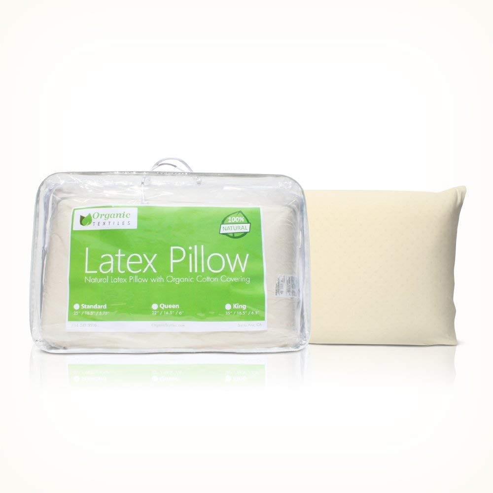 OrganicTextiles Natural best latex pillow review by www.dailysleep.org