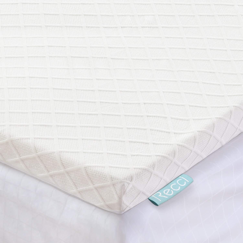 RECCI 2 best memory foam mattress topper review by www.dailysleep.org
