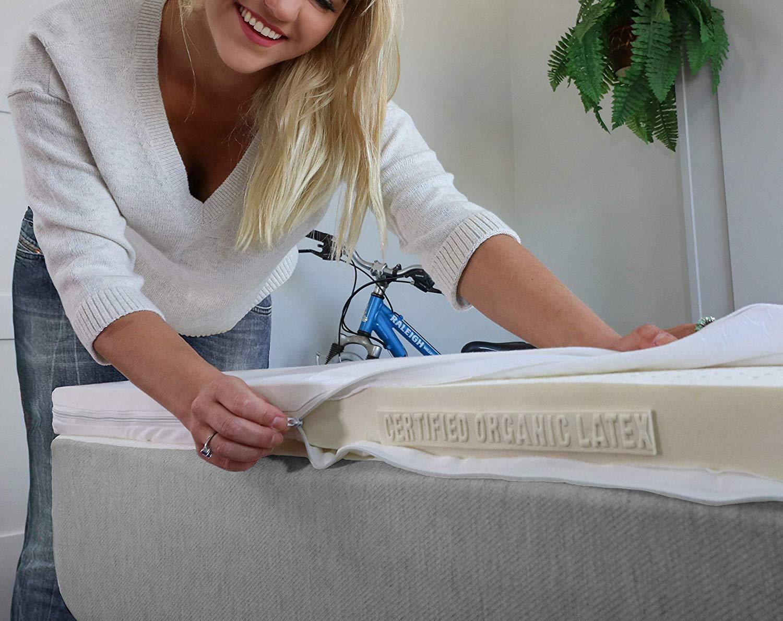 TAke Ten latex mattress topper review by www.dailysleep.org