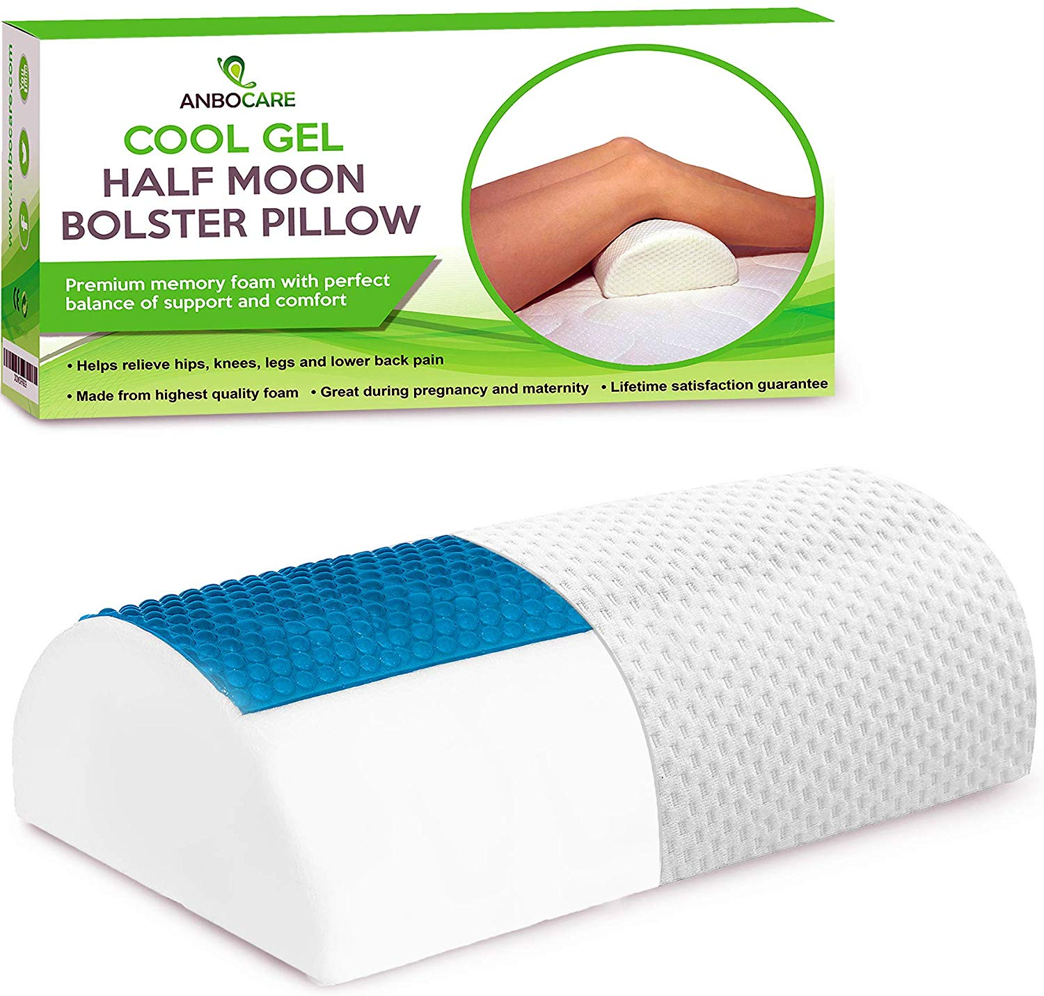 AnboCare Best Knee Pillow review by www.dailysleep.org