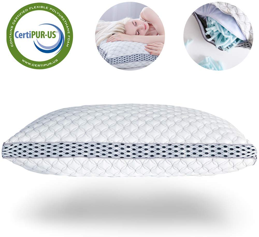 LIANLAM shredded memory foam pillow review and buying guide by www.dailysleep.org