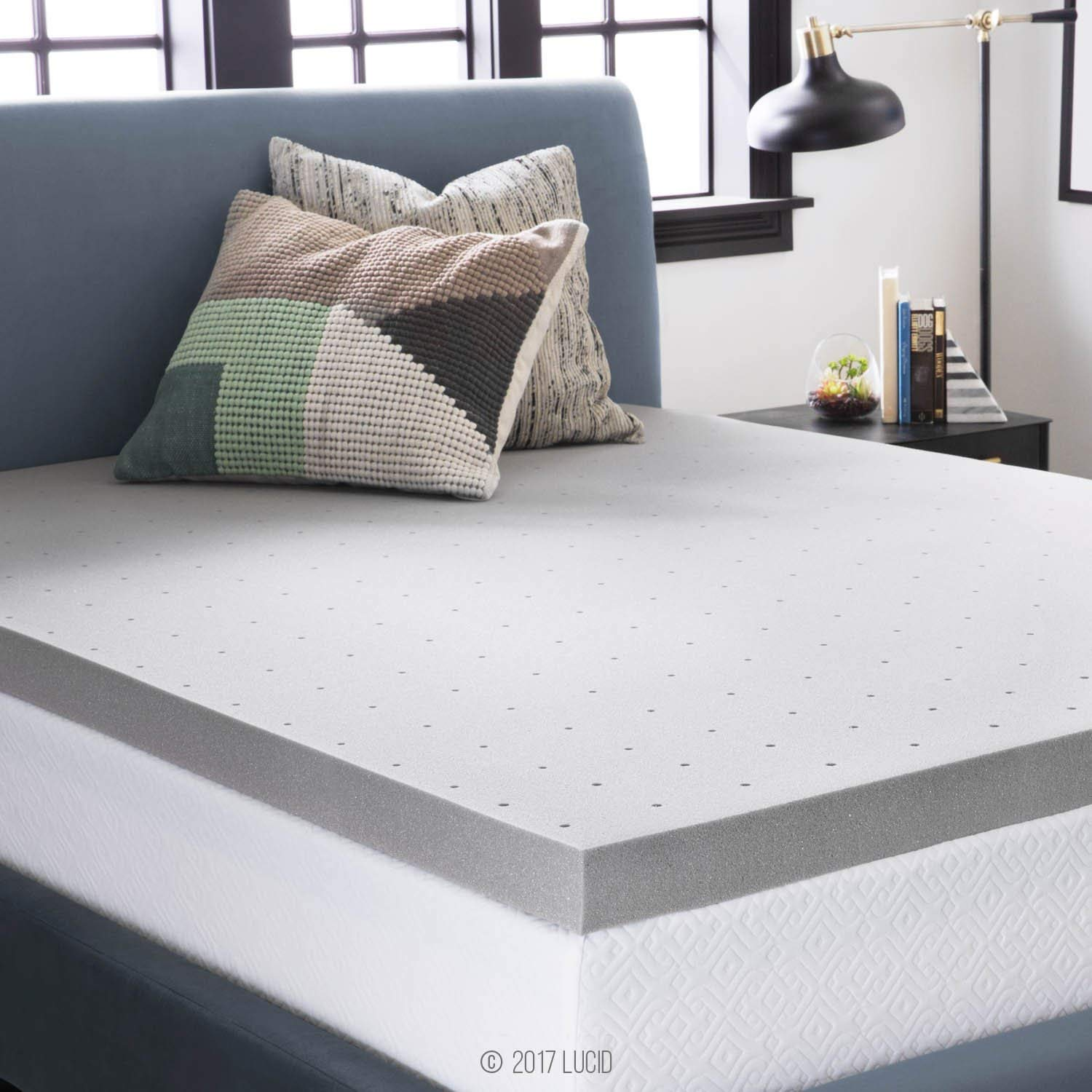 LUCID bamboo mattress topper review by www.dailysleep.org