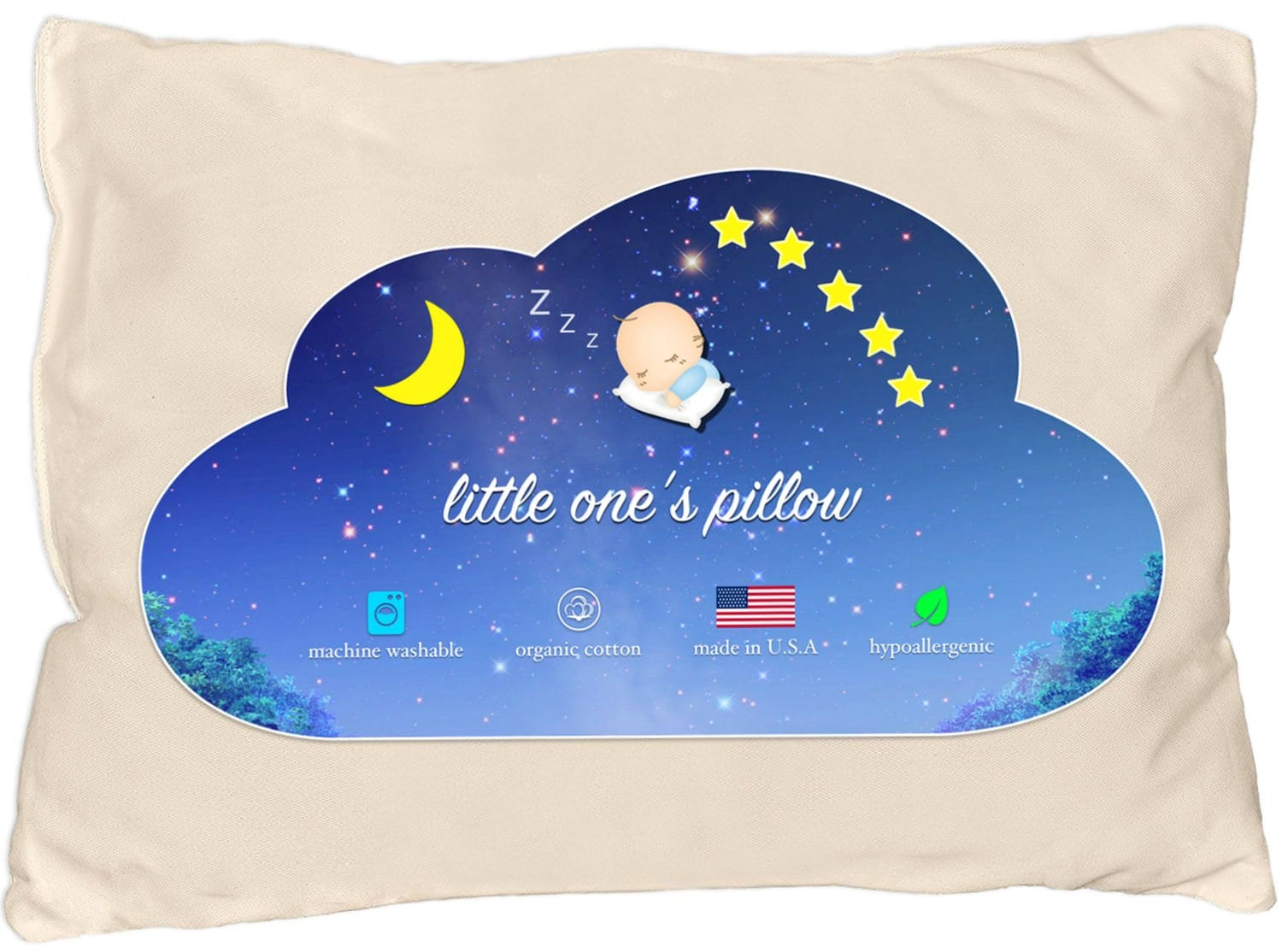 Little One's Pillow Best Flat Pillow review by www.dailysleep.org