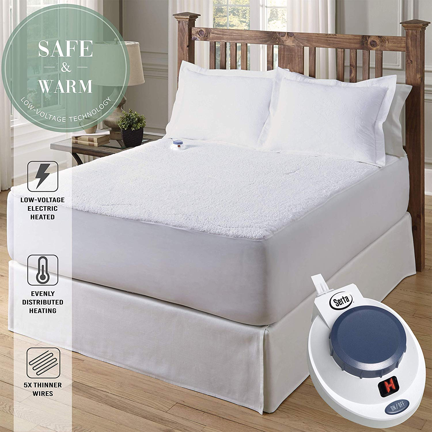 Serta best heated mattress pad review by www.dailysleep.org