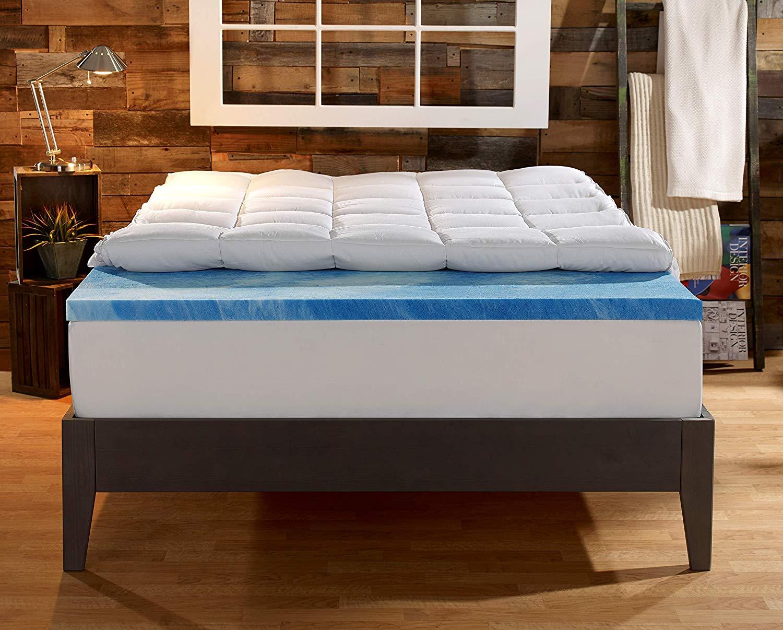 Sleep Innovations best firm mattress topper review by www.dailysleep.org