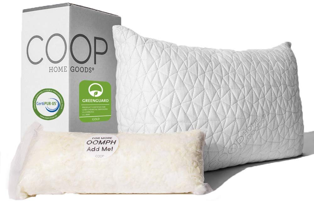 Coop Home Goods best pillow for stomach sleepers review and buying guide by www.dailysleep.org