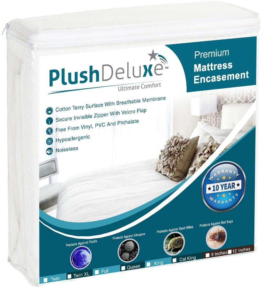 PlushDeluxe best waterproof mattress pad review by www.dailysleep.org