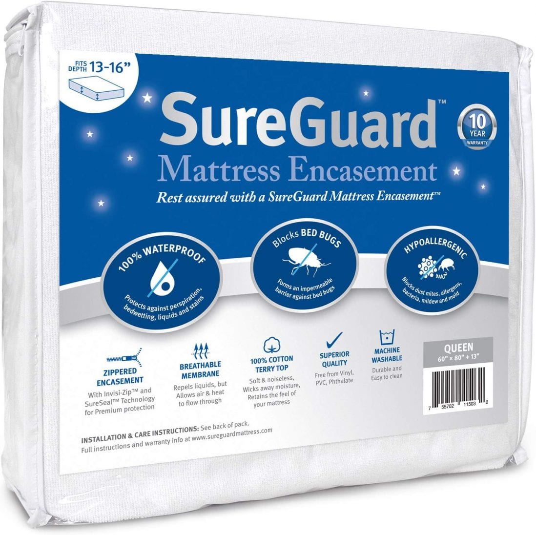 SureGuard best mattress cover review by www.dailysleep.org