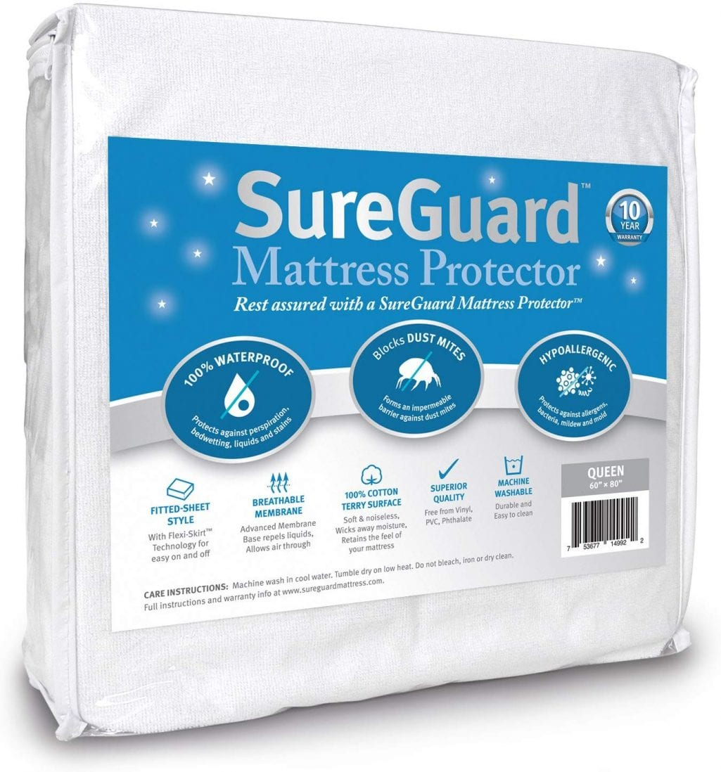SureGuard best waterproof mattress pad review by www.dailysleep.org