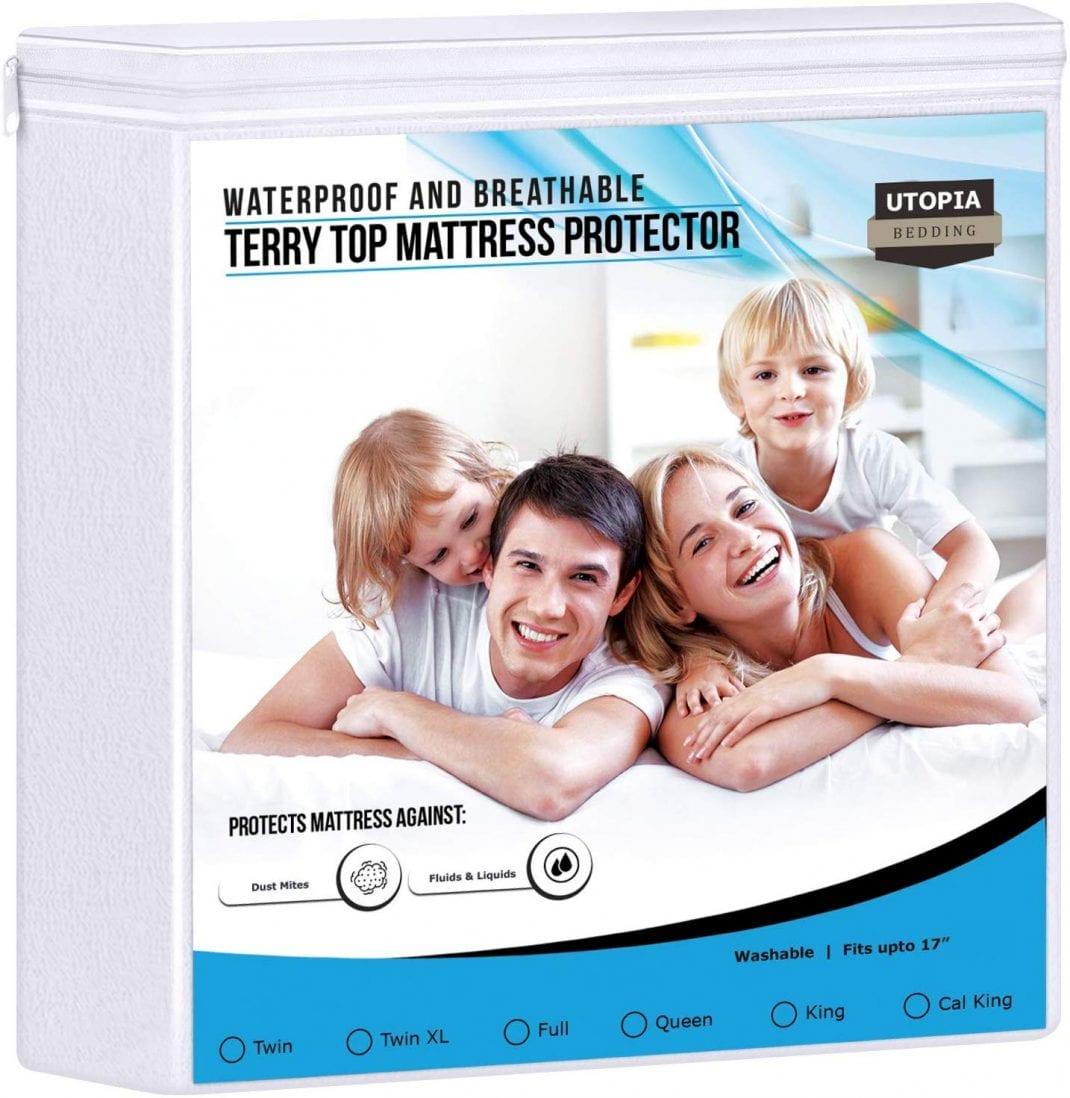 Utopia Bedding best waterproof mattress protector review by www.dailysleep.org