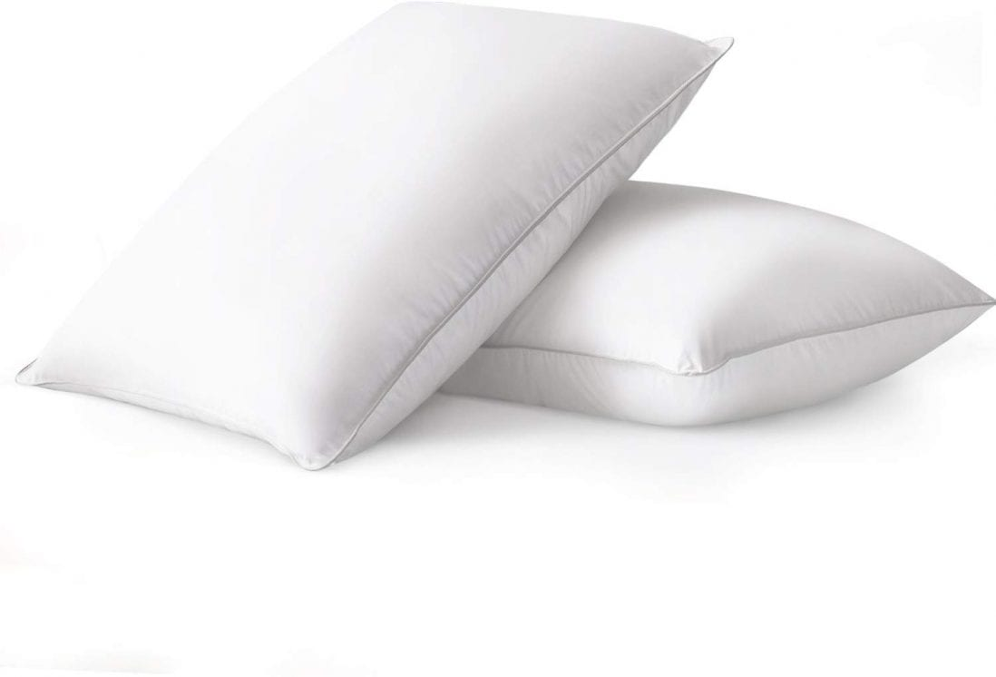 Beckham Hotel Collection Luxury White Down Feather Pillow  Review and Buying Guide by www.dailysleep.com