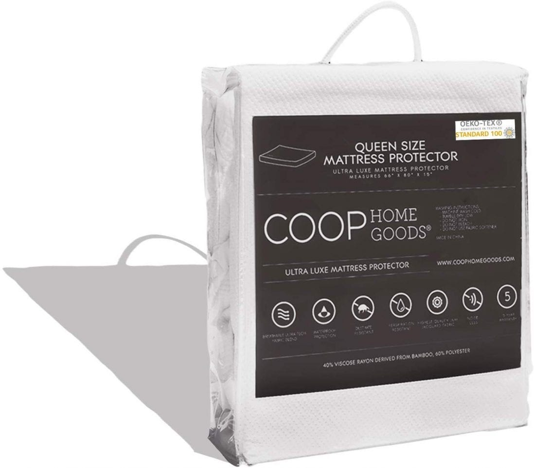 COOP HOME GOODS best cooling mattress protector review and buying guide by www.dailysleep.org