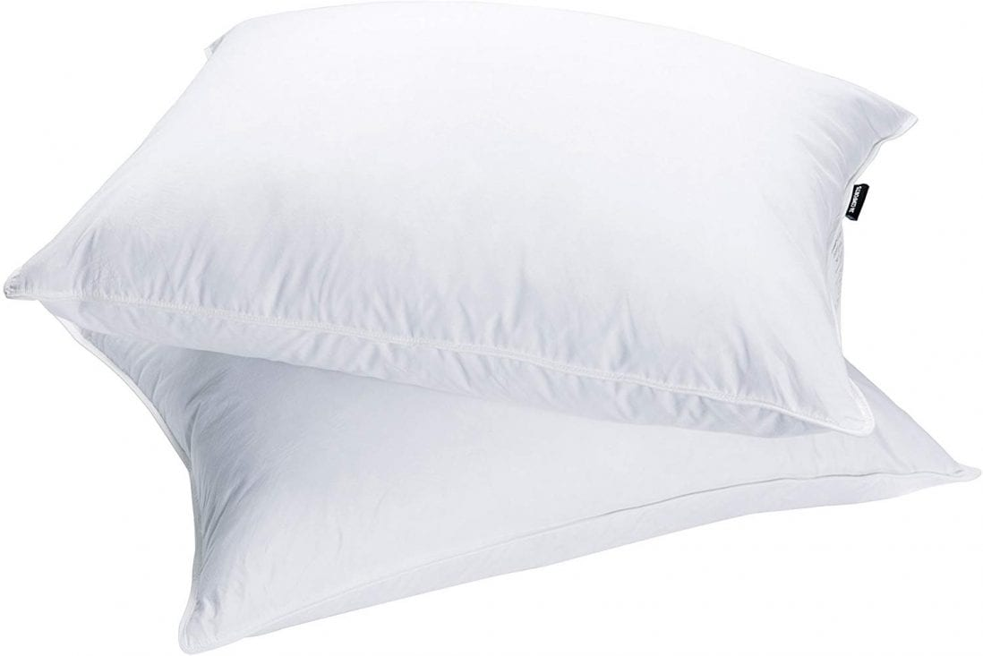 JA COMFORTS Goose Down and Feather Bed Pillow Review and Buying Guide by www.dailysleep.com