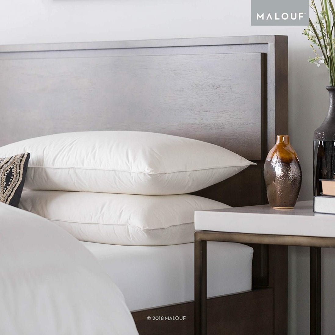 MALOUF Z TRIPLELAYER Down Pillow Review and Buying Guide by www.dailysleep.com